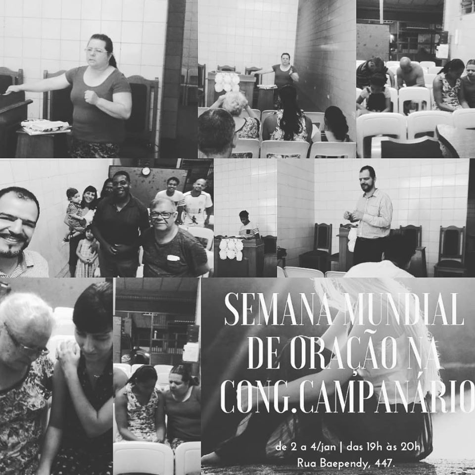 Primeira Semana Mundial da Oração realizada na Congregação Campanário | Foto: arquivo IPD (2019)